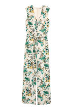 Patterned jumpsuit - Natural white/Tiger - Ladies | H&M CN 2