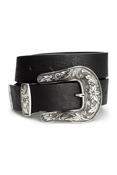 Belt with a large buckle - Black - Ladies | H&M CN 1