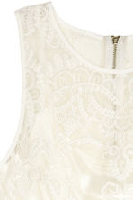 Embroidered tulle dress - White - Ladies | H&M IE 3