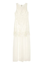 Embroidered tulle dress - White - Ladies | H&M IE 2