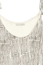 Strappy top with lace - White/Patterned - Ladies | H&M CN 3