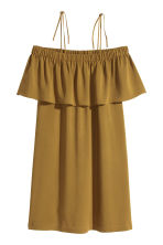Off-the-shoulder dress - Olive green - Ladies | H&M CN 2