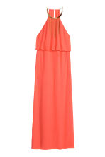 Necklace-trim halterneck dress - Coral - Ladies | H&M CN 1