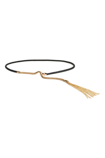 Waist belt with a tassel