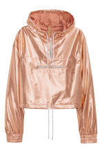 Shimmering metallic anorak - Rose gold - Ladies | H&M GB 2