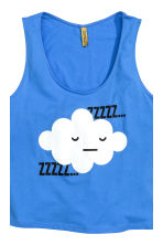 Jersey vest top pyjamas - Blue/Cloud - Ladies | H&M CN 4