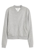 Sweatshirt jacket - Grey marl - Ladies | H&M CN 2