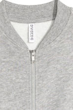 Sweatshirt jacket - Grey marl - Ladies | H&M CN 3