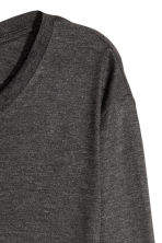 Long-sleeved lyocell top - Dark grey marl - Ladies | H&M CN 3