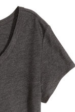 Lyocell jersey top - Dark grey marl - Ladies | H&M CN 2