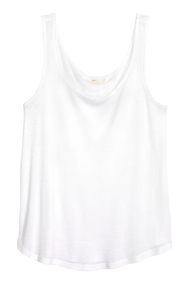 Lyocell vest top - White - Ladies | H&M CN 1