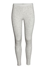 Lyocell leggings - Light grey marl - Ladies | H&M CN 2