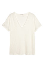 H&M+ Linen top - Natural white - Ladies | H&M CN 2