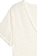 H&M+ Linen top - Natural white - Ladies | H&M CN 3