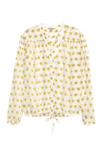 Chiffon blouse - White/Patterned - Ladies | H&M CN 2
