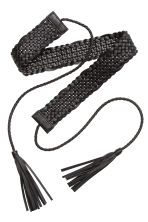 Braided waist belt - Black - Ladies | H&M CN 2