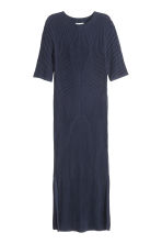 Ribbed dress - Dark blue - Ladies | H&M GB 2