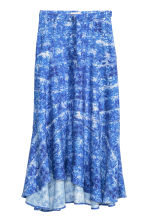 Gonna fantasia misto lyocell - Bianco/blu fantasia - DONNA | H&M IT 2