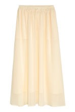 Chiffon skirt - Natural white - Ladies | H&M CN 2