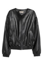 Leather bomber jacket - Black - Ladies | H&M GB 2