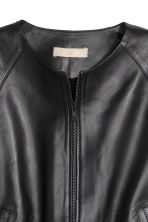 Leather bomber jacket - Black - Ladies | H&M GB 3