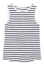 Vest top - White/Striped - Ladies | H&M CN 2