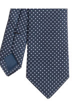 Spotted satin tie - Dark blue - Men | H&M CN 3
