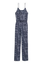 Jersey jumpsuit - Dark blue/Patterned - Ladies | H&M CN 2