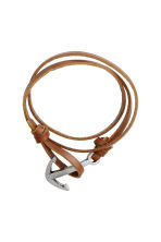 Leather bracelet - Brown/Silver-coloured - Men | H&M 1