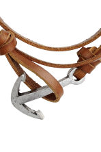 Leather bracelet - Brown/Silver-coloured - Men | H&M CN 2