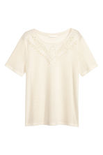 Jersey top - Natural white - Ladies | H&M CN 2