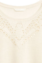 Jersey top - Natural white - Ladies | H&M CN 3