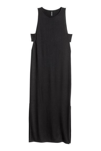 Black dress in h m - Jersey Maxi Dress Black Ladies H M