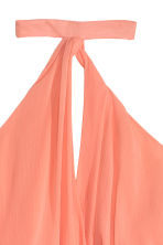 Halterneck dress - Light coral - Ladies | H&M CN 3