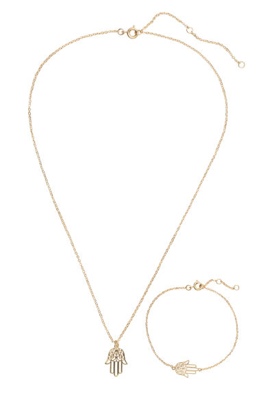 Necklace and bracelet - Gold - Ladies | H&M CN 1