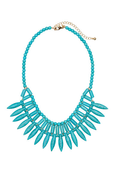 Short necklace - Turquoise - Ladies | H&M CN 1