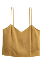 Silk crop top - Olive green - Ladies | H&M CN 2