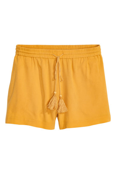 Short shorts - Mustard yellow - Ladies | H&M IE