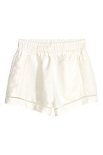 Shorts in a linen blend - White - Ladies | H&M CN 1