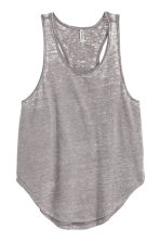 Marled jersey vest top - Grey/Burnout - Ladies | H&M CN 2