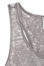 Marled jersey vest top - Grey/Burnout - Ladies | H&M CN 3