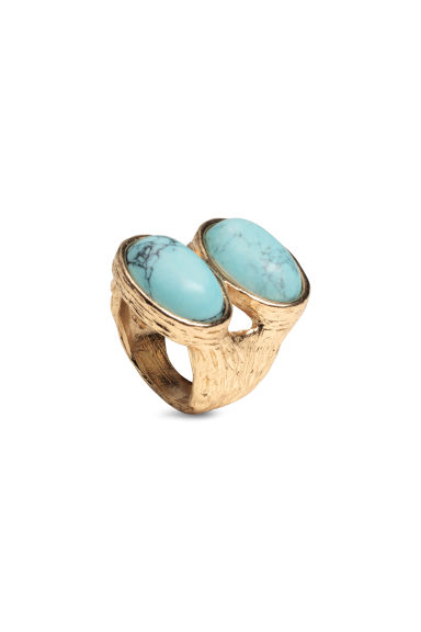 Metal ring - Gold/Turquoise - Ladies | H&M CN