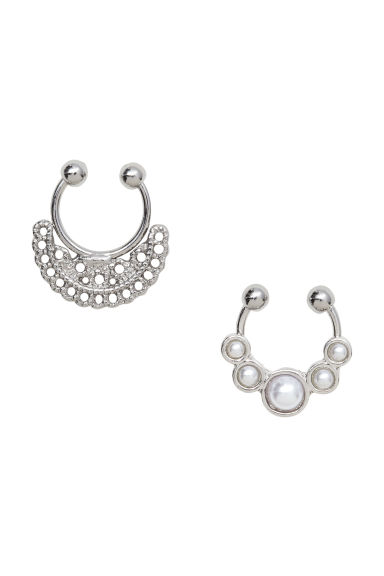 2-pack nose rings - Silver - Ladies | H&M CN 1