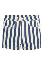 Shorts in twill High waist - Blu scuro/bianco righe - DONNA | H&M IT 2