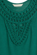 Top with appliqués - Dark green - Ladies | H&M CN 2