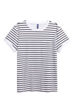 2-pack T-shirts - Black/White/Striped - Men | H&M CN 3