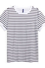 2-pack T-shirts - Black/White/Striped - Men | H&M CN 6