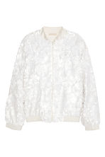 Sequined bomber jacket - White - Ladies | H&M GB 2