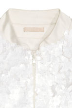 Sequined bomber jacket - White - Ladies | H&M GB 3