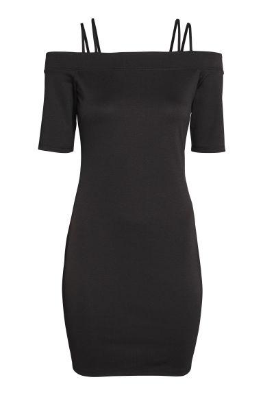 Black dress in h m - Off The Shoulder Dress Black Ladies H M